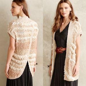 Anthropologie Moth Quinta Fringe Sweater Duster S